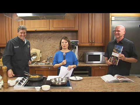 Bill and I promoting the book on my normal Kitchen Creations spot.